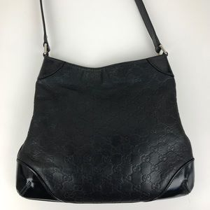 Gucci Capri Monogram Leather Hobo Shoulder Bag